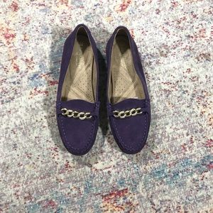 Naturalizer Purple Suede Loafers (6.5W)